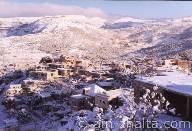 Ain Zhalta in the winter